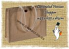 Hessian, Burlap, Jute, Bags, Natural, Laminated, Button, Loop, Closure, Conference, Shopper, Shopping, Promotional, Goodie, Goody, Gift, Bags