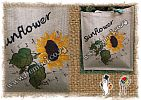 Hessian Jute Burlap Bag Bags Tote Shopping Event Souvenir Curio Festival Market Conference Seminar Eco friendly Natural Laminated - Sunflowers